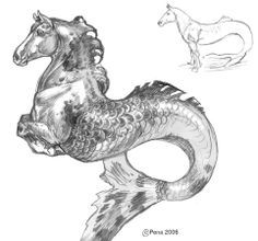 Lovely Creatures, Fantasy Creatures, Mythical Creatures, Kelpie Horse, Illustrations, Illustration Art, Horse Pattern, Arte Horror, Carousel Horses