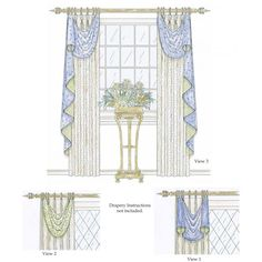 This Asymmetrical Valance Consists Of A Valance Section