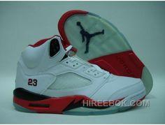 new product d1a11 2431c Air Jordan 5 White Black Fire Red Vente En Ligne, Price   65.00 - Reebok  Shoes,Reebok Classic,Reebok Mens Shoes
