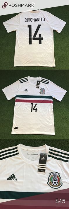 Mexico CHICHARITO Soccer Jersey white 2017 New with tags - Men's adult sizes available - 2017 white Mexico / Mexican men's national soccer / futbol team short sleeve jersey , CHICHARITO #14 Shirts Tees - Short Sleeve