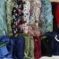 SMALL SCRUB LOT These are all a lot for sale all are a size small tops and bottoms all are in great shape some even have never been worn brands we have include wink, natural, lugana, bless-u, all heart, Paul frank, Mary elhart, NRG, orange, media wear, SB scrubs pants are NOT the same as each and every top but do match some pants names  are crocs, iguana, no name brands, Mary elheaert some of pants tags are worn or missing these are in great shape to SOLD AS A LOT  ALL SIZE SMALL PANTS AND…