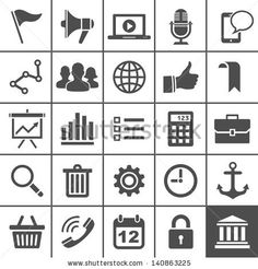 Universal Icon Set. 25 Universal Icons For Website And App ...