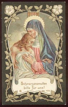 Schmerzensmutter - Heiligenbild / Holy card / Image pieuse by dietherpetter, via Flickr