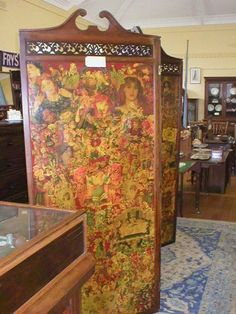 Victorian decoupage screen...sold, but I will keep looking!!♥
