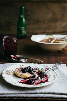 Farmer Cheese Pancakes with Berry Sauce | Red Star to Lone Star