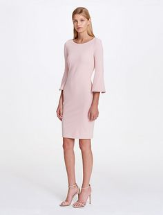 ee53e07048da90 Image for bell sleeve crepe dress from Calvin Klein Size 12