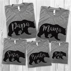 Bear Family Shirts - Mama Daddy Bear Baby Bear T Shirt - Family Matching Outfits Shirts Mothers Day St Valentine (Price per Shirt) Father Son Matching Shirts, Matching Family Outfits, Couple Outfits, Papa Baby, Mom Baby, Baby Family, Papa Bear Shirt, Mama Shirt, Baby Shower Shirts