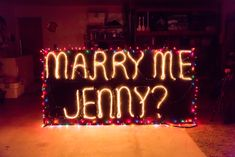 This holiday light proposal would be the most perfect Christmas gift.