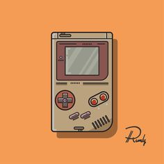 Nintendo Console Game Boy on Behance- Steve Piquet- Nintendo Tattoo, Gaming Tattoo, Retro Video Games, Video Game Art, Game Boy, Game Tester Jobs, Boy Drawing, Image Fun, Motion Design