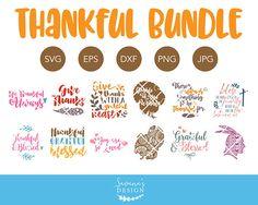 Thanksgiving SVG Bundle, Thankful SVG, SVG Files for Cricut, Svg Files for Silhouette, Thanksgiving Bundle Svg, Thanksgiving Dxf Cut Files