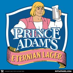 Prince Adam's T-Shirt - He-Man T-Shirt is $11 today at Ript!