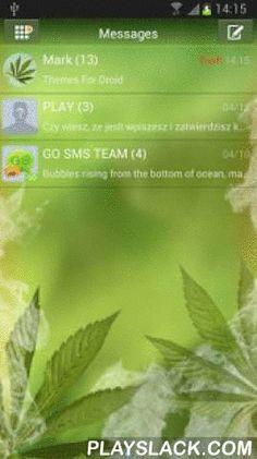 Weed Ganja Theme For GO SMS  Android App - playslack.com ,  GO SMS thema met marihuana huid. Als je fan bent van reggae muziek of je net als de ganja rook download onze thema voor gratis. Alle ramen en textbox zijn gestileerd als onkruid. Rustige groene kleuren zal je goed humeur. Vergeet niet dat marihuana en roken wiet illegaal in sommige landen kunnen zijn. Vereisten: Dit thema vraagt GO SMS Pro applicatie op je telefoon geïnstalleerd. U kunt deze gratis downloaden vanaf Google Play te…