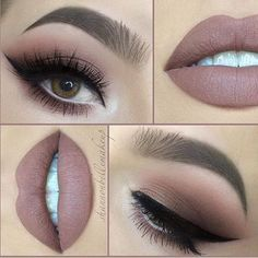 Nicely nude by gorgeous @shannonbellemakeup & beautifully peachy, taupe smokes PRODUCTS USED… LIPS: @jeffreestarcosmetics in CelebritySkin. @rimmellondonuk Lip Pencil in Cappuccino. EYES: Eye...