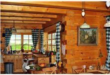 Log Homes Kitchen Log Home Kitchens, Log Homes, Windows, Timber Homes, Log Houses, Window, Log Cabin Homes, Wood Houses, Wood Homes