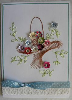 Basket of flowers by must love cats - Cards and Paper Crafts at Splitcoaststampers