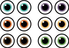 Silhouette Design Store - View Design #21118: eyeballs