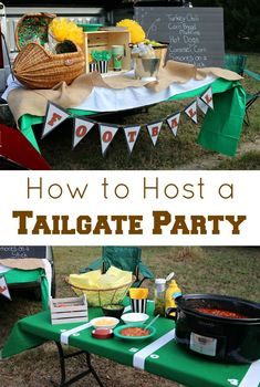 How to Host a Tailgate Party. From homemade chili recipe to a DIY Football Treat Stand craft, these tips are sure to make your tailgating a success! Football Treats, Football Food, Turkey Chili, Turkey Bowl, Tailgating, Football Tailgate, Football Season, Green Tablecloth, Slow Cooker Turkey