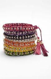 Cara stacked friendship bracelets (Nordstrom)