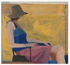 Richard Diebenkorn.  Seated Figure with Hat, 1967.