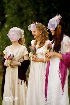 vintage boho bridesmaids by David Blair Photography / French Wedding Style Blog