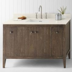 "Sophie 48"" Bathroom Vanity Cabinet Base in Vintage Café"