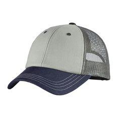 District - Tri-Tone MeshBack Cap DT616. Caps HatsCustom HatsVisorsBaseball  ... 00e0d9048b72