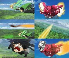 SAO vs Iron Man #lol #meme #funny #anime #kirito #ironman #sao