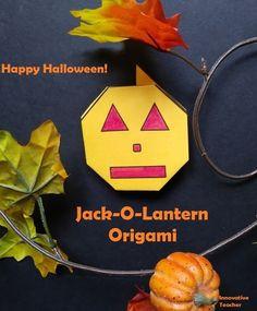 Jack-O-Lantern Origami by Innovative Teacher Teaching Activities, Art Activities, Classroom Activities, Teaching Ideas, Creative Teaching, Classroom Tools, Teaching Methods, Upper Elementary, Elementary Schools