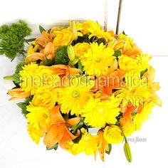 Arreglo Floral con Lilies Triada de Color m1488| Envia Flores