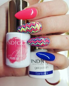 Gel Brush  Felice Io & Gel Polish Santorini by Emilia Tokarz Indigo Young…