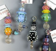 Lampwork pendants by Nichole Byers these would make great zipper pulls...I do these too !!!!!!!!!!!!!!!!!!!!!!!!.