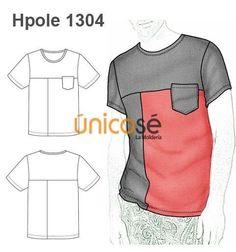 Clothing Patterns, Dress Patterns, Sewing Patterns, T Shirt Sketch, Sewing Men, Clothing Sketches, Shirt Makeover, Pattern Drafting, Dressmaking