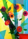 Artsonia Art Exhibit :: 3rd Grade Tissue Paper Flower Collage (Farber)