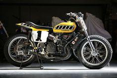 Kenny Roberts 1975 Indy Mile winning TZ750 - via Cafe Racer Dreams