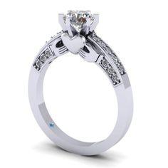Claddagh engagement ring... Put a cushion cut diamond on top!!!