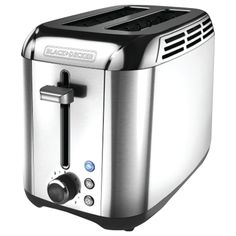 Speed up breakfast with the BLACK+DECKER Rapid Toast Toaster. Built to toast faster than previous BLACK+DECKER models, this toaster delivers efficient performance with a variety of shade options. The extra-wide slots make it easy to fit a Bread Toaster, Sandwich Toaster, Specialty Appliances, Kitchen Appliances, Kitchen Gadgets, Stainless Steel Toaster, Frozen Waffles, Types Of Bread, Thing 1