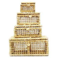 Compre online CAIXAS DE PALHA DE MILHO NATURAL - LMD434 por R$18,00. Faça seu pedido, pague-o online e receba onde quiser.