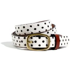 MADEWELL Calf Hair Polka-Dot Belt (€42) ❤ liked on Polyvore featuring accessories, belts, madewell, polka dot, calf hair belt and polka dot belt