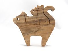 Wooden Cat, Woodworking Tools, Cats And Kittens, Mineral, Hardwood, Wax, Handmade Wooden Toys, Wood Animal, Traditional