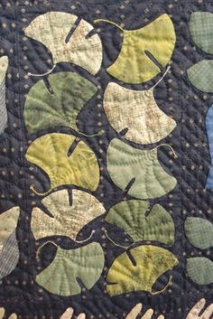 Gingko quilt.  This might work well with some of my tonal Japanese fabric