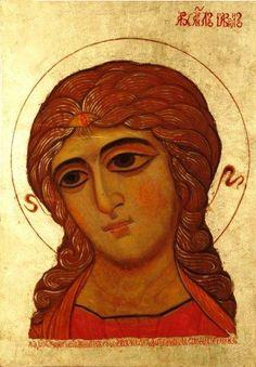 Russian icon of Archangel Gabriel - http://fromrussiawithart.blogspot.com