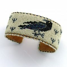 Raven Beaded Bracelet - Teri Greeves - New Mexico Creates - Stunning Art Work by New Mexico Artists