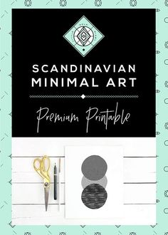 Geometric Wall Art Scandinavian Minimalist Printable