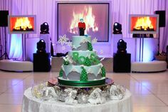 Bar Mitzvah & Bat Mitzvah Decor & Design: Custom ski themed cake by MMEink Event Design & Productions. mmeink.com. Call us to learn how we can help you with your next event: 877.885.0705