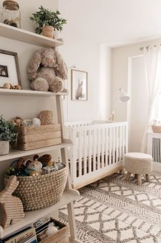 Baby Room Design, Nursery Design, Design Girl, Baby Nursery Decor, Baby Decor, Baby Nursery Ideas For Girl, Project Nursery, Beige Nursery, Woodland Nursery