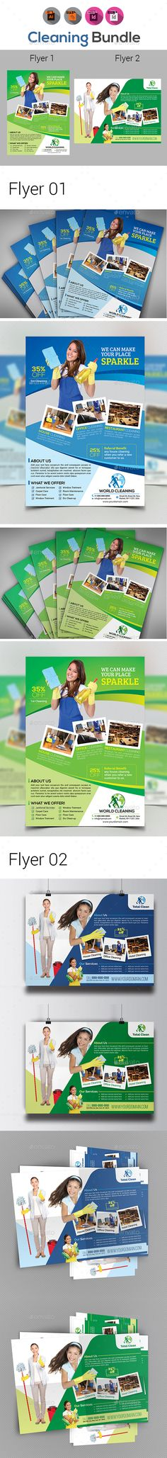 Cleaning Services Flyer Template Vol2 Cleaning service, Flyer - cleaning brochure template