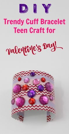 Create this simpel and chic DIY Valentine's Day cuff bracelet for yourself or all of your friends. This bracelets come together super quick and easy!