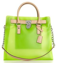 MICHAEL Michael Kors Hamilton Frosted Jelly Large North South Tote- great for a summer bag