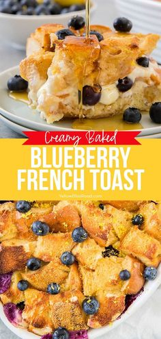 Drizzle this Blueberry French Toast Casserole with some maple syrup and serve with a side of bacon for the best breakfast or brunch ever! So much easier to feed a crowd this way! #frenchtoast #casserole #brunch Breakfast Bake, Breakfast Dishes, Best Breakfast, Breakfast Ideas, Breakfast Recipes, Brunch Ideas, Blueberry French Toast Casserole, French Toast Bake, Brunch Recipes