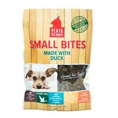 PLATO SMALL BITES WITH DUCK 10.5OZ - BD Luxe Dogs & Supplies